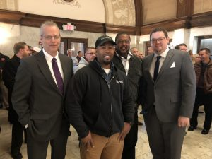 From left: SMW Local 24 Business Manager Rodney French, Dale Clark, Odell Clark and Business Representative Jeff Hunley.
