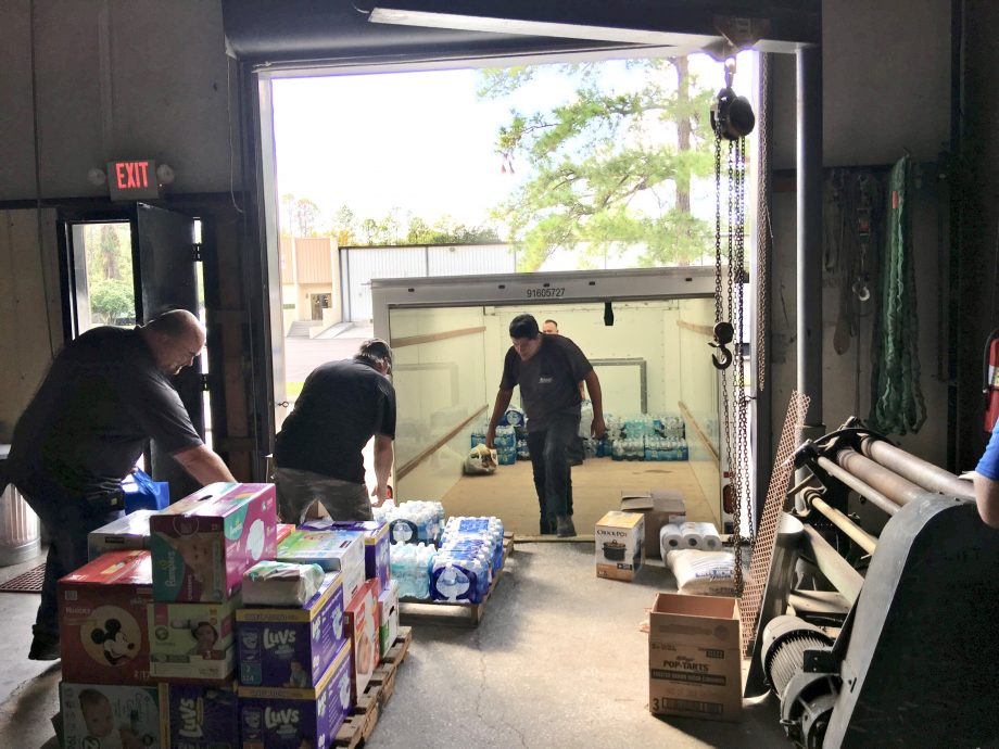 Members and Contractors donate supplies to Hurricane Irma Relief Efforts