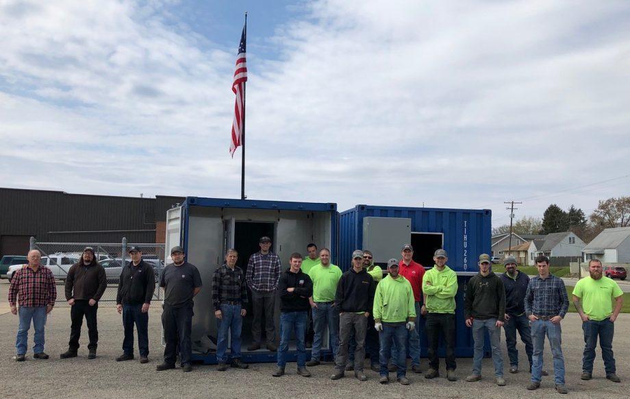 Local 24 Members Perform Metal Work on Battelle Decontamination Units