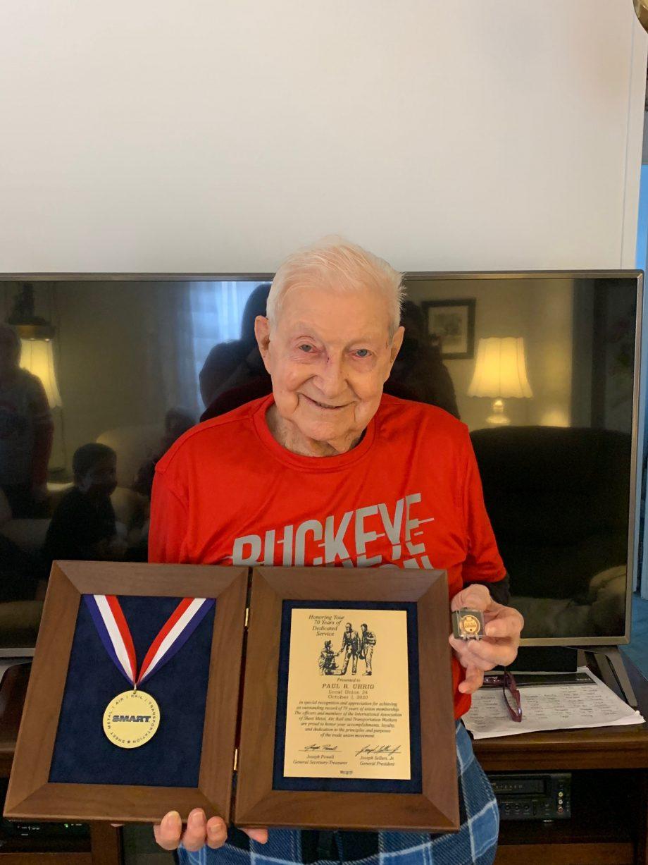 Brother Paul Uhrig Receives 70-year Pin Award